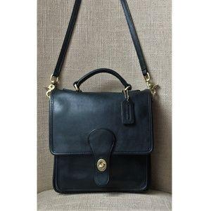 Vintage COACH Station Black Crossbody Handbag 5130